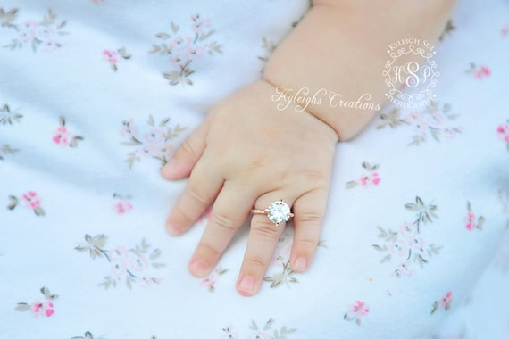 24 Month ROSE GOLD baby girl ring baby ring baby jewelry