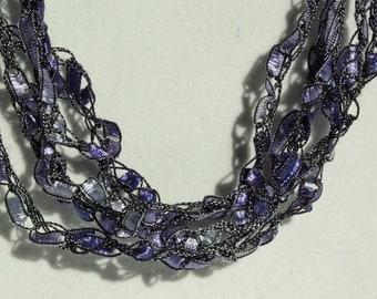 Lilac Mist - Crocheted Necklace