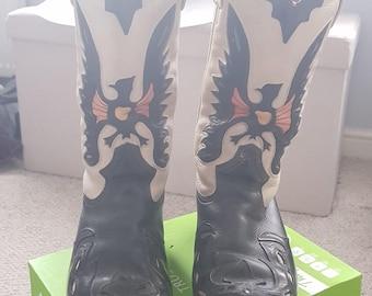 Cowboy Boots Glam Rock Sleaze