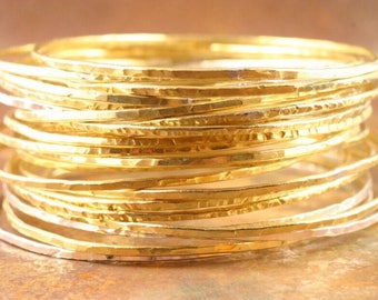 Brass Bangles set of five brass bangles bangle hammered brass bangles gold bangle stacking bangle bracelets