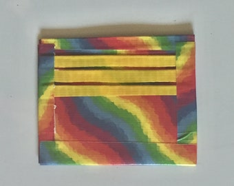 Rainbow Inside Out Duct Tape Wallet