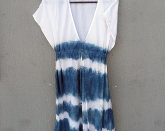 Indigo Dyed Shibori Dress