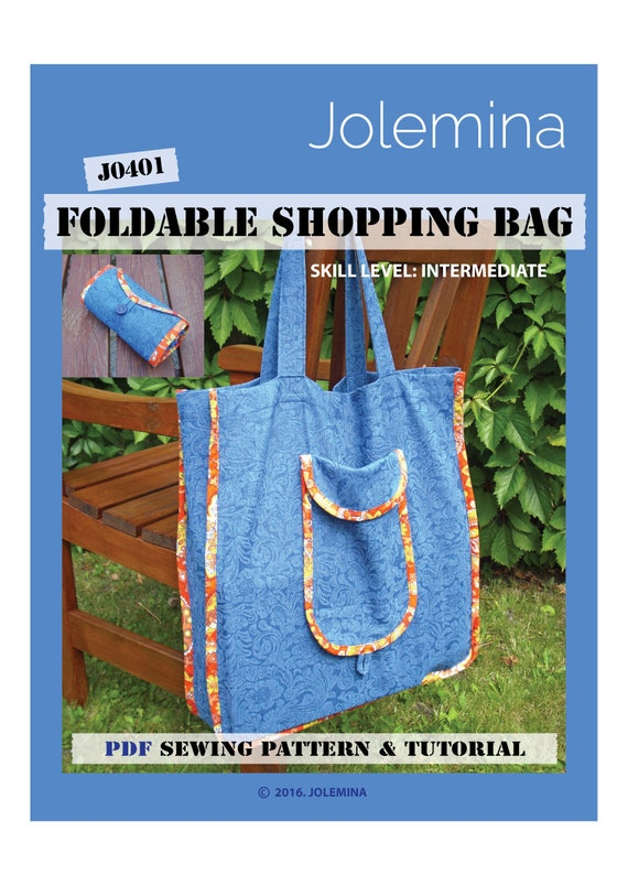 PDF sewing pattern, shopping bag, reusable grocery bag, digital ...