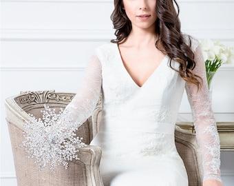 Limited Edition Great Wedding Ideas - Isabella Bridal Bouquet in Clear Crystal - Wedding Bouquet - Fabulous Brooch Bouquet Alternative