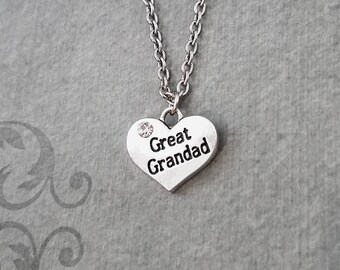 Great Grandad Necklace SMALL Grandpa Necklace Grandfather Jewelry Pendant Necklace Father's Day Jewelry Daughter Necklace Granddaughter Gift