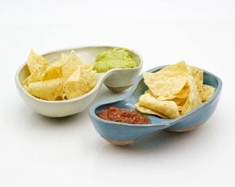 Modern ceramic bowl - Chip and dip - Housewarming gift - Serving bowl - Dipping bowl