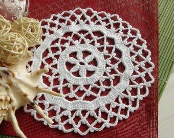 Small crochet doily Crochet coasters Crocheted doilies Small round crochet doilies Centerpiece coaster 375