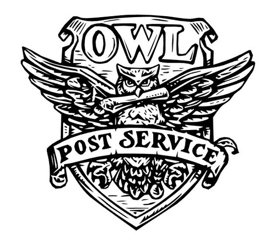 Owl post service HP car decal laptop decal vinyl decal