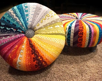 Colorful Tuffet Ottoman