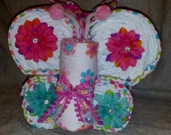 Diaper Butterfly Made To Order Baby Shower Centerpiece Decor Gift Young Childs Birthday Party Decoration Boys Girls Neutral