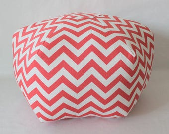 Coral Chevron pouf / floor pillow / color options / custom chevron floor pouf / ottoman pillow - floor cushion - foot stool / Morrocan stool