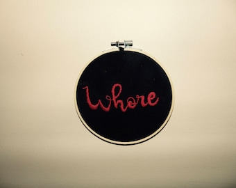 Funny Embroidery Hoop Art *Adult*
