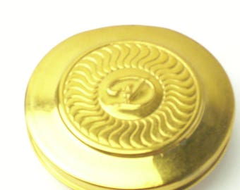Gold Tone Vintage 1980's Purse Mirror & Pill Box Signed D Gift For Her Best Deal