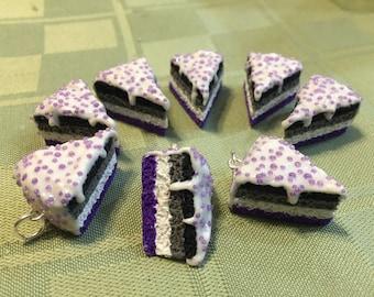 Ace Flag Asexual Pride LGBTQ Cake Slice Charm
