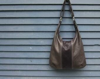 OVERSIZED HOBO - large leather bag - leather hobo bag with zipper - customizable crossbody hobo bag - zippered purse - leather hobo handbag