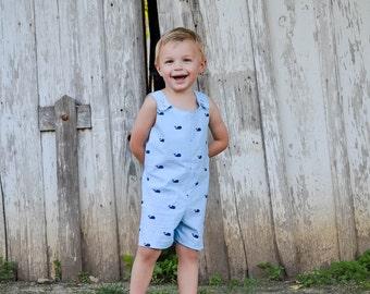 Boys Jon Jon - Boy Outfit - Jon Jon - Baby Boys Shortall - Boys Overalls - Shortalls - Boy Romper - Boy Shorts - Boy Outfit - Boy Sunsuit