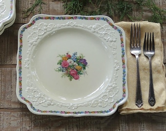 Crown Ducal Gainesborough Square Lunch Plate Listing is for ONE PLATE ONLY Numbered 749657 Replacement China