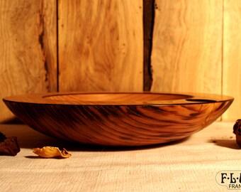 Large empty Pocket Texture chestnut wood