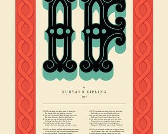 IF, Rudyard Kipling poem poster