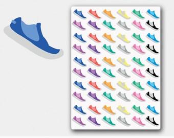 Running stickers, running planner stickers, running  shoe sticker, run planner sticker, sneaker stickers, ECLP,