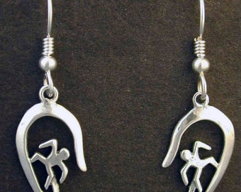 Sterling Silver Surfer Earrings on Heavy Sterling Silver French Wires