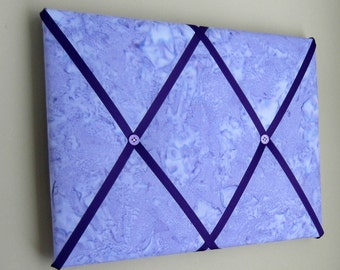 """11""""x14"""" Shaved Ice Purple, French Memory Board, Bow Holder, Bow Board, Memo Board, Photograph Holder, Business Card Holder, Vision Board"""