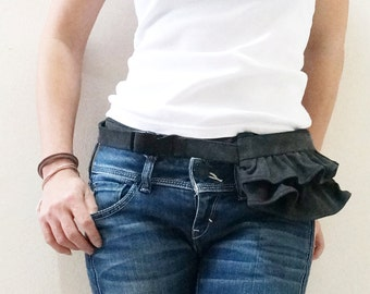 Summer Sale 30%, Mini Gathered Waist Pouch, Fanny Pack, Zipper Pouch, Gift for Girls, Travel Pouch, Gift for Women - MGWP