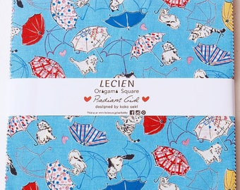 """Radiant Girl 42-pcs 10"""" x 10"""" layer cake fabric squares Origami Pack - by Koko Seki for Lecien Japan"""