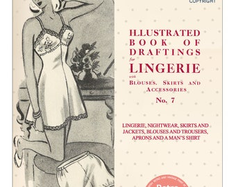 The Haslam System of Dressmaking Lingerie No. 7 1940's - PDF Booklet Instant Download