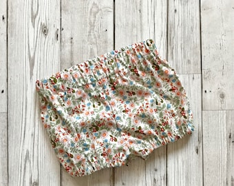 Newborn Floral Bloomers - Baby Floral Bloomers - Girls Bloomer Shorts - Floral Print Bloomers - Baby Bloomers - Newborn Baby Gift