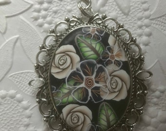 Pendant Necklace, Polymer Clay