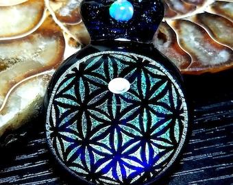 Sacred Geometry Dichroic Glass Pendant