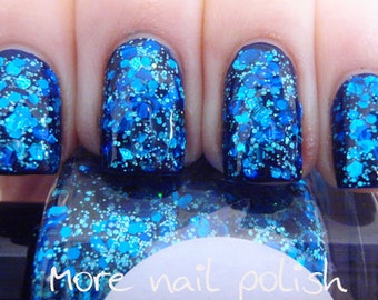 Beneath the Blue Hand made custom nail polish