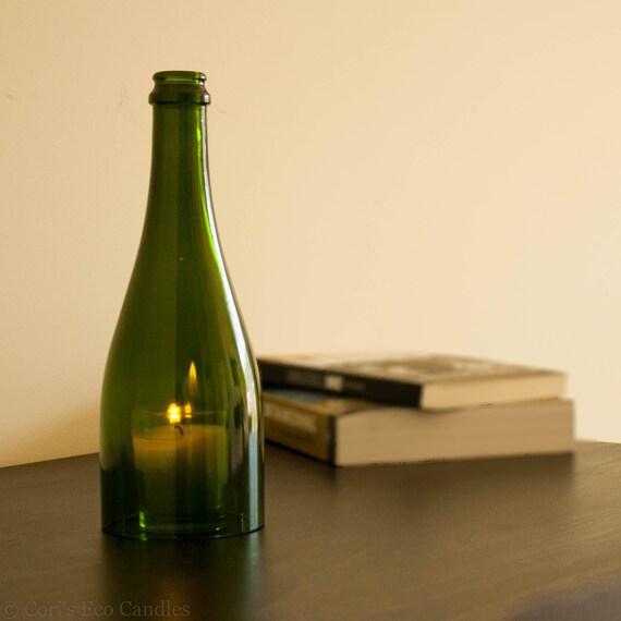 Recycling-Flasche Wein Kerze Lampen-Kerze-Halter