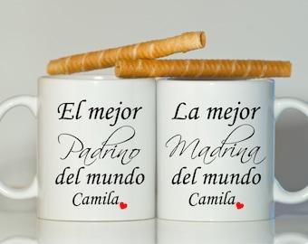 Padrino Madrina mugs, Godmother gift, Godfather gift, Godparents gift, Baptism gift, Christening gift, Godparent gift, Padrino gift, Madrina
