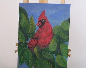 Natures Best 3 Cardinal, Bird Painting, Cardinal Painting