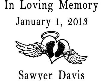 In Memory Car Decal, Angel Wings, In Loving Memory, Rest in Peace