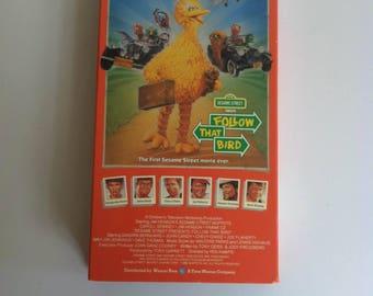 Sesame Street  Follow THAT BIRD (VHS) Big Bird!
