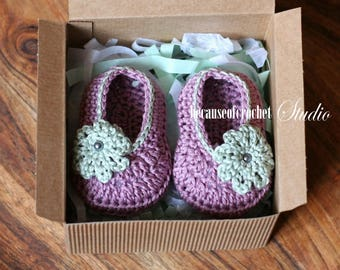 Sale! PDF Crochet PATTERN for beginners - Baby slippers. Size 3 (6, 9) months. Written in US terms.