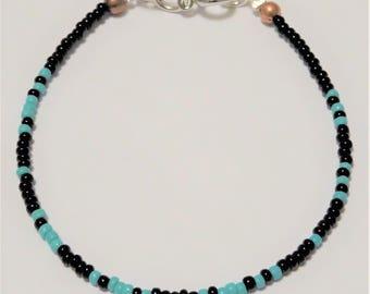Fearless, Morse Code, beads, bracelet