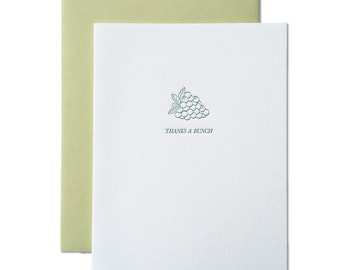 Thanks a Bunch Letterpress Greeting Card