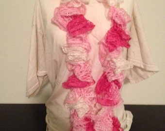 Pink Sashay / Ruffle Scarf