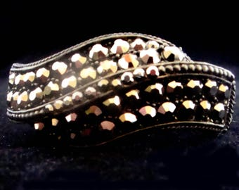 Vintage Weiss Rhinestone Clamper, Weiss Vintage Cuff, Vintage Rhinestone Cuff Bracelet, Vintage Rhinestone Clamper Bracelet