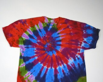 Hey Happiness! Spiral Tie Dye T-Shirt (Gildan Ultra Cotton Size 4XL) (One of a Kind)