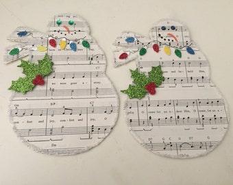 Music Paper Snowmen Gift Cards