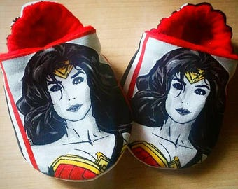 Wonder Woman Inspired Booties. Size newborn to US 7