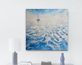 Oil painting, Original canvas painting, Seascape Painting, Wall Art, Ocean Art, Handmade