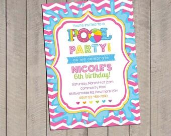 Pool Invitation / Pool Party Invitation / Kids Pool Party Invitation / kids pool party / Pool birthday / Party Digital Printable DIY