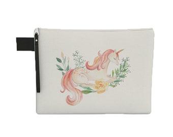 Zipper Carry All - Laptop Sleeve with Zipper - Tablet Pouch - Unicorn Zipper Pouch