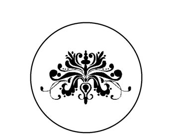 Damask Counted Cross Stitch Pattern PDF - Black and White Damask Sampler Instant Download